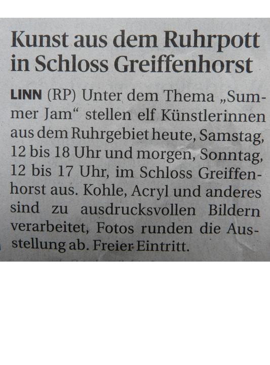 Kunstausstellung Schloss Greiffenhorst Zeitungsartikel