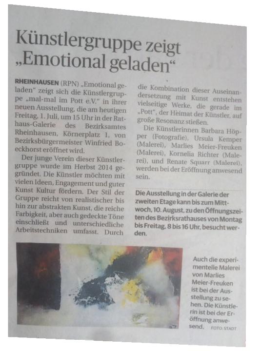 Rheinische Post Zeitungsartikel Emotional geladen