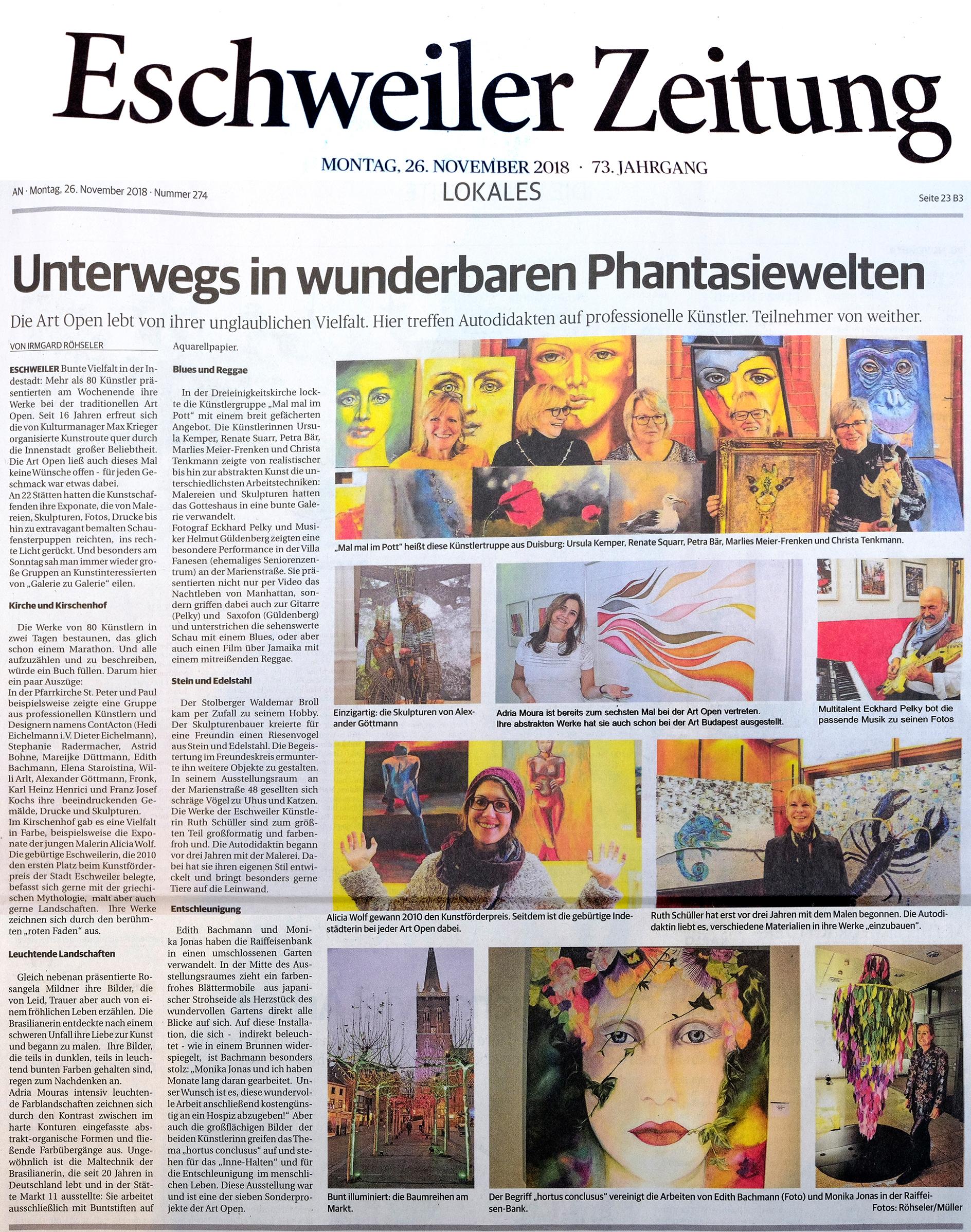 Eschweiler Zeitung-Art Open Zeitungsartikel