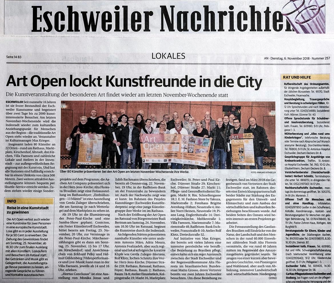 Zeitungsartikel Eschweiler Nachrichten